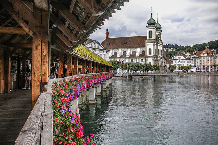 Chapel Bridge in Old Town Lucerne
