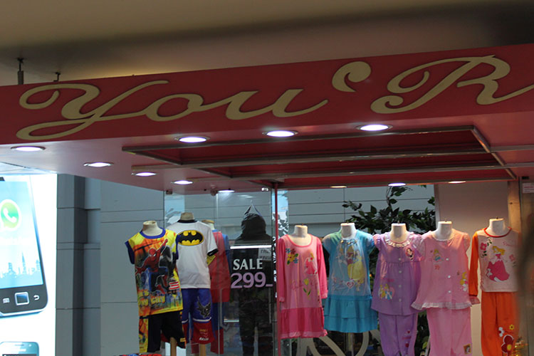 "MBK mall - store name: ""You'r"""