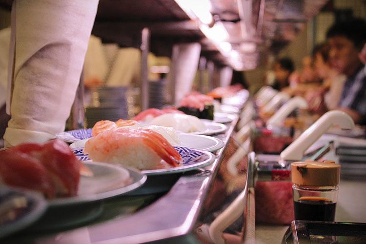Tokyo Day 1: Conveyer Belt Sushi