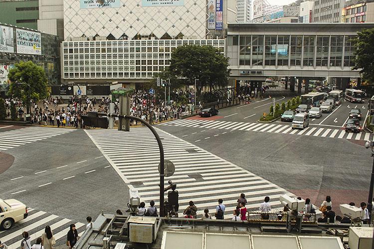 shibuya crossing before