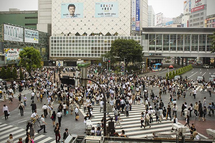 shibuya crossing after