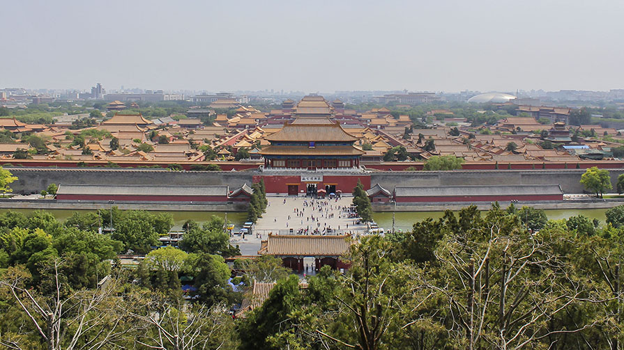 view of the forbidden palace - it's huge!