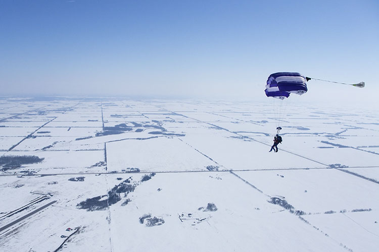 Skydiving in the Snow