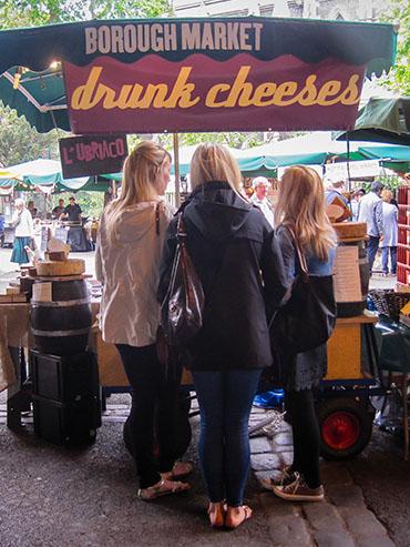 Borough Market Drunken Cheeses - London England - Wanderlusters