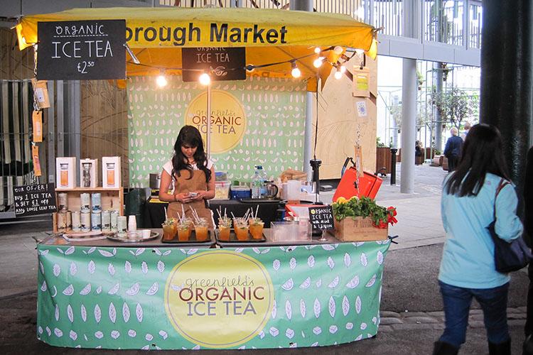 Borough Market Iced Tea - London England - Wanderlusters