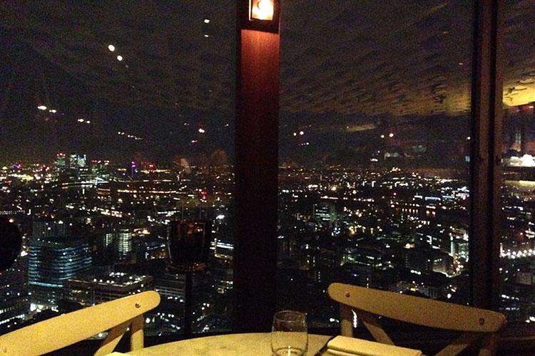 Duck & Waffle Views - London England - Wanderlusters