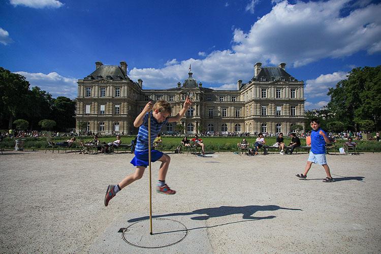 Luxembourg Gardens Boy - Paris France - Wanderlusters