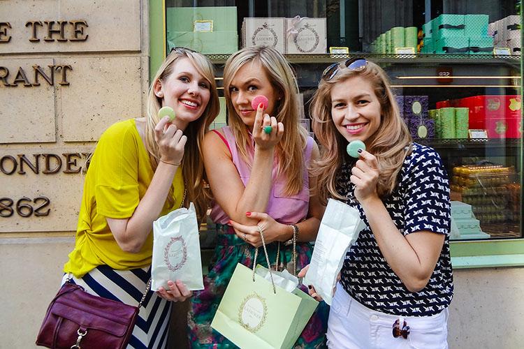 Wanderlusters - Laduree Macaron Shop - Paris France