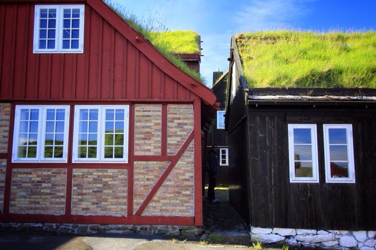 Faroe Islands: Grassy Roofs of Torshavn