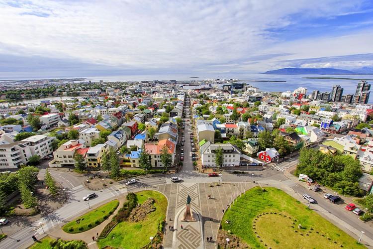 Wanderlusters - Iceland Postcard - Reykjavik Town large
