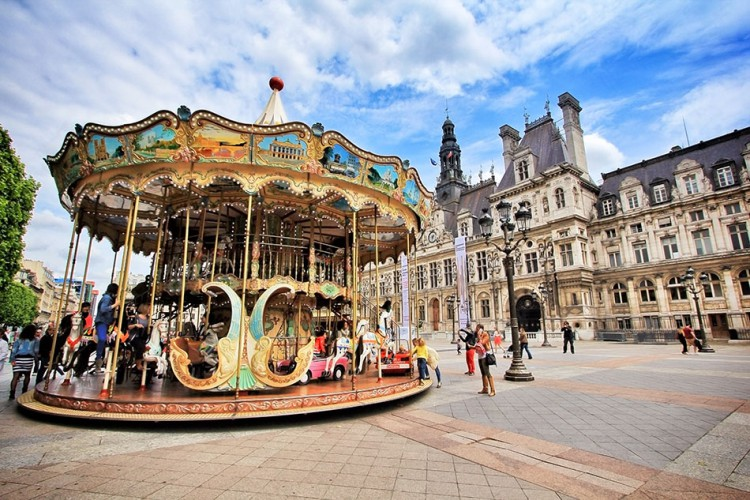 Wanderlusters - Paris Postcards - Ferris Wheel