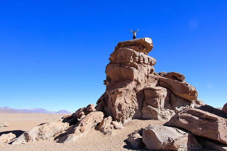 Desert Stone Tree Rock Climbing - Bolivia Salt Flats Tour - Wanderlusters
