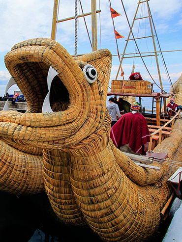 Egyptian Reed Boat Details - Lake Titicaca Bolivia - Wanderlusters