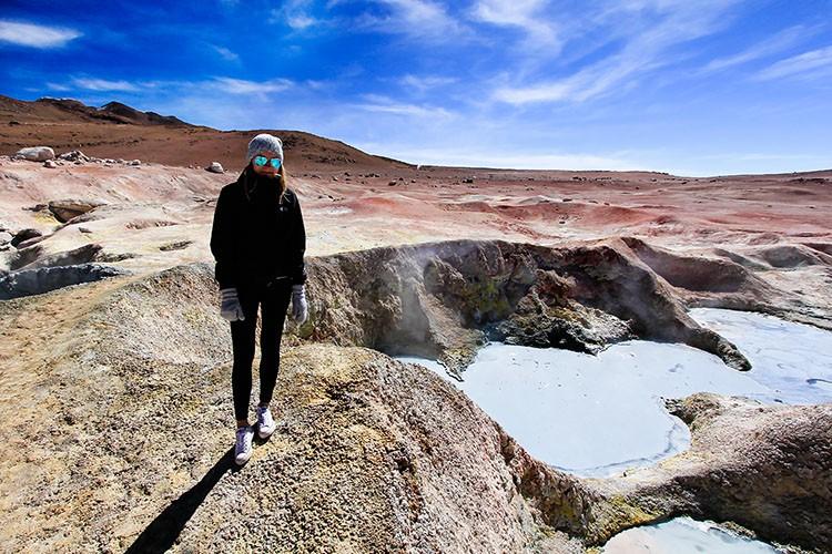 Geysers Sol de Manana at Bolivia Salt Flats Tour - Wanderlusters