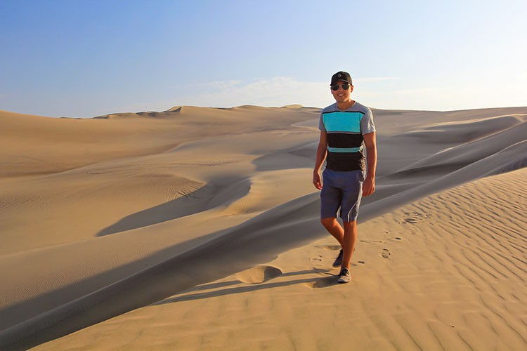 Huacachina Dunes at Sunset - Peru - Wanderlusters