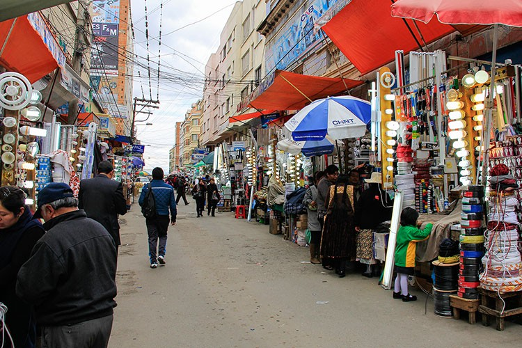 La Paz Street Markets Lightbulbs - Bolivia - Wanderlusters