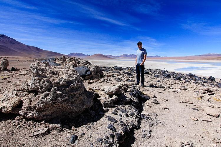 Lava Rock at Laguna Verde - Green Lagoon - Bolivia Salt Flats Tour - Wanderlusters