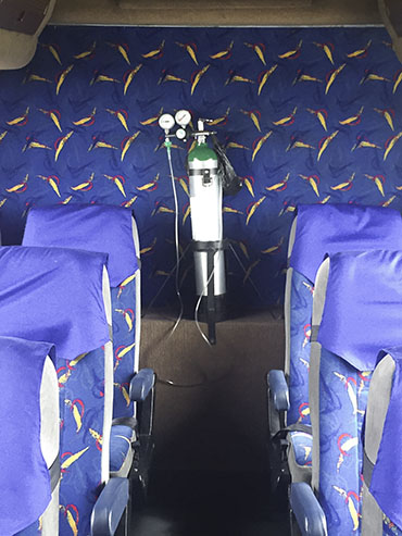 Oxygen Tanks on Bus - Bolivia - Wanderlusters