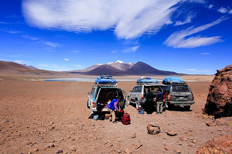 Picnic Lunch at Lagoon - Bolivia Salt Flats Tour - Wanderlusters