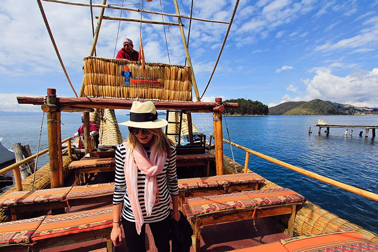 Riding a Reed Boat in Lake Titicaca - Bolivia - Wanderlusters