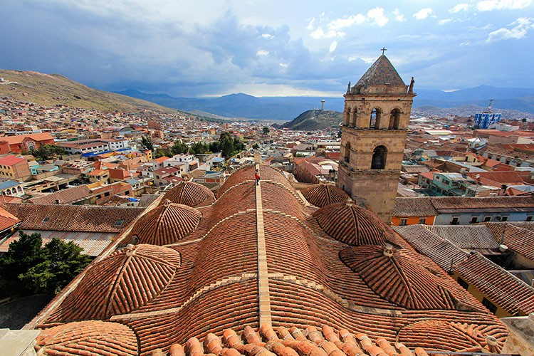 San Fransican Church Rooftop View - Potosi Bolivia - Wanderlusters