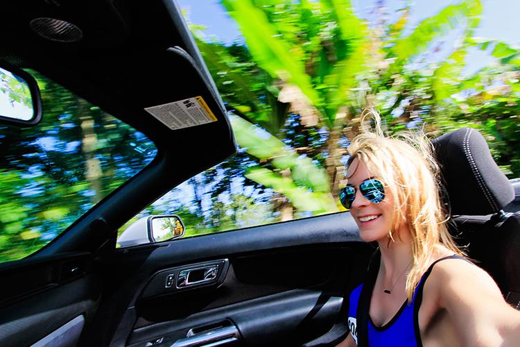 Convertible Cruisin on Road to Hana - Maui Hawaii - Wanderlusters