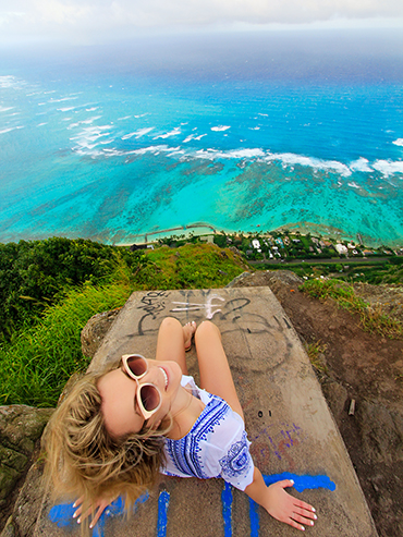 Dead Mans Catwalk from Above - Oahu Hawaii - Wanderlusters (3x4)