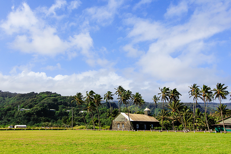 Ke-anae Peninsula Church - Road to Hana  - Maui Hawaii - Wanderlusters