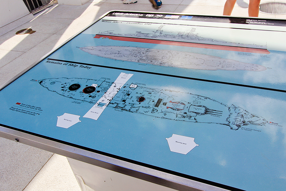 Pearl Harbor USS Arizona Map - Oahu Hawaii - Wanderlusters (950x633)