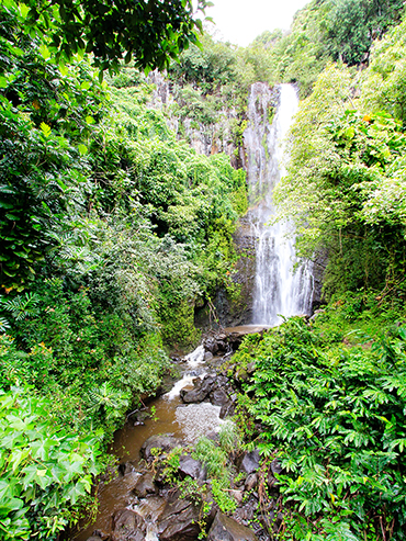 Pipiwei Trail Waterfall - Maui Hawaii - Wanderlusters (3x4)