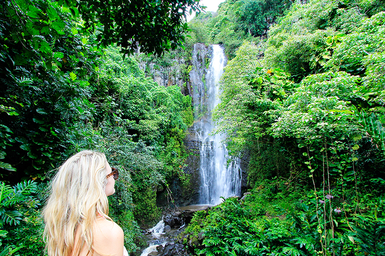 Road to Hana Waterfalls - Maui Hawaii - Wanderlusters