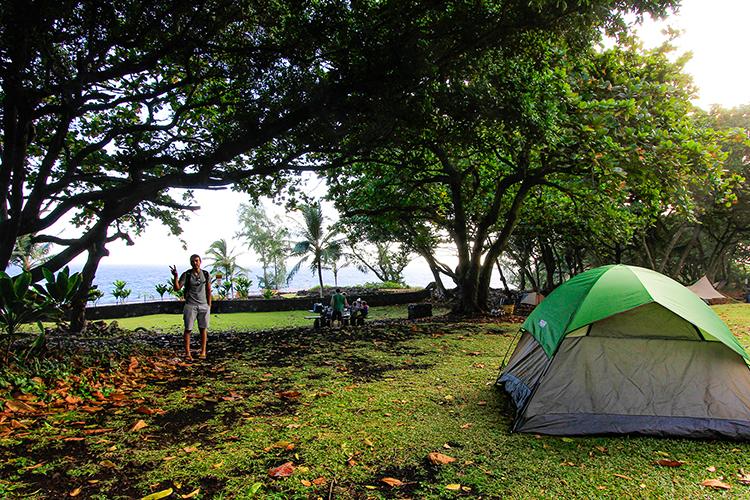 Waianapanapa Park Camping Site - Road to Hana - Maui Hawaii - Wanderlusters
