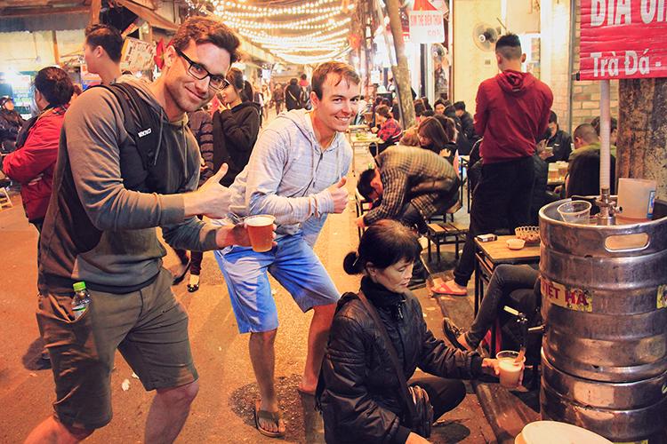 Bia Hoi in Hanoi - Vietnam - Wanderlusters