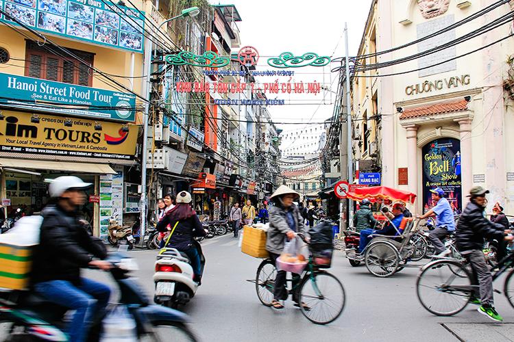 Busy Street Hanoi Vietnam - Wanderlusters