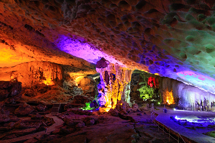 Halong Bay Large Cave - Vietnam - Wanderlusters
