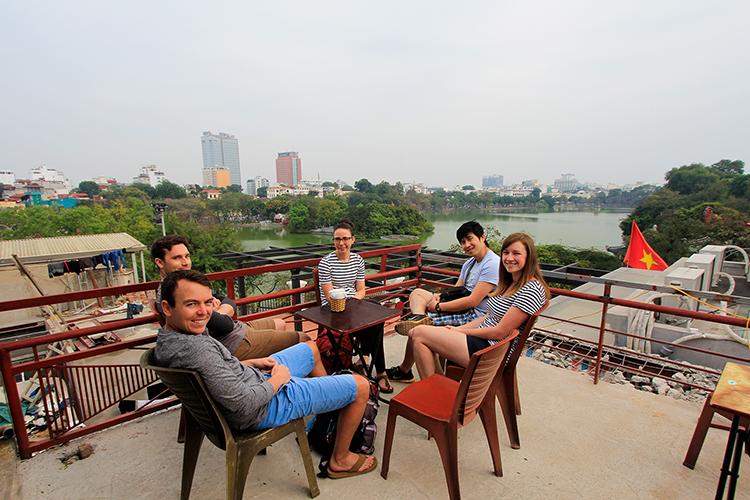 Hanoi Rooftop Cafe - Vietnam - Wanderlusters