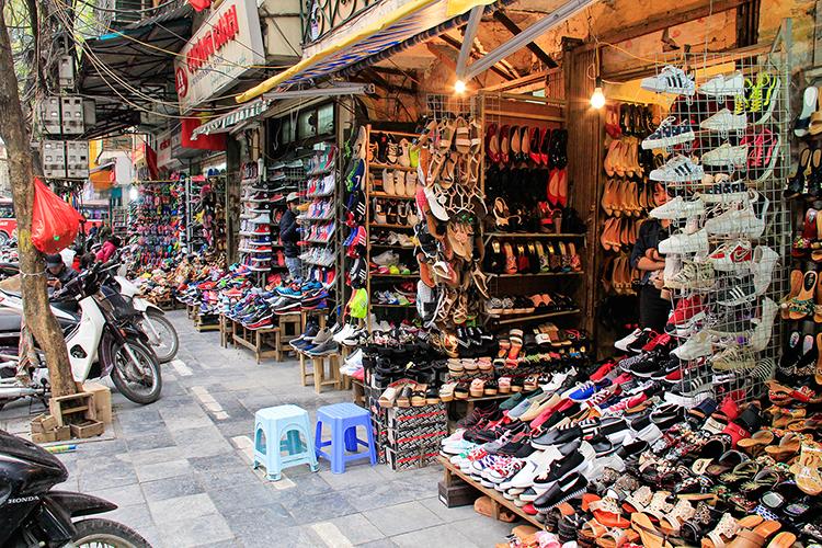 Hanoi Shoe Street - Vietnam - Wanderlusters