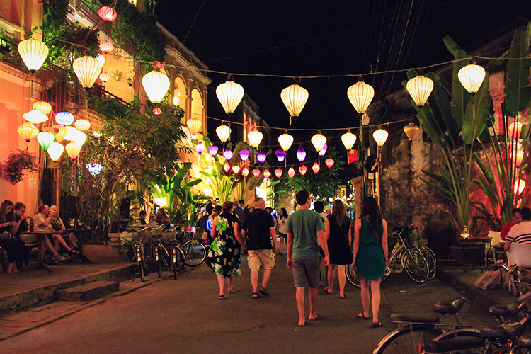 Hoi An Lanterns on Streets at Night - Vietnam - Wanderlusters
