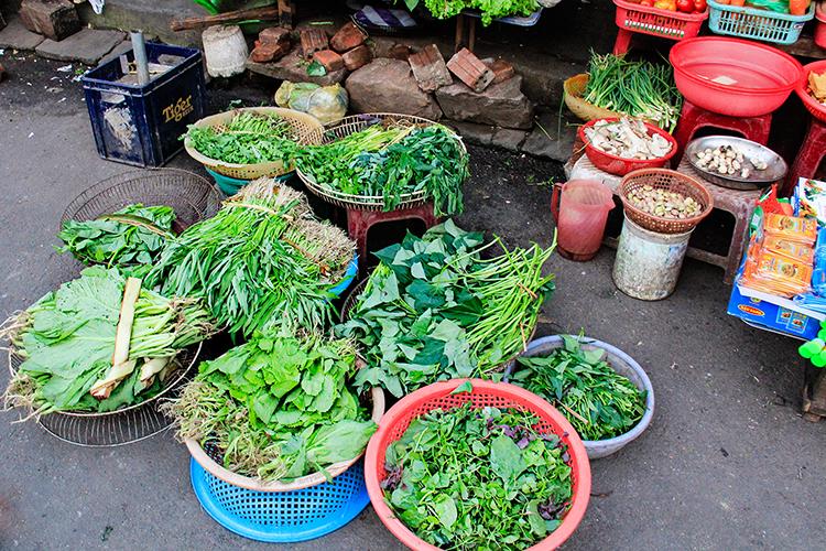 Hoi An Street Market Vegetables - Vietnam - Wanderlusters