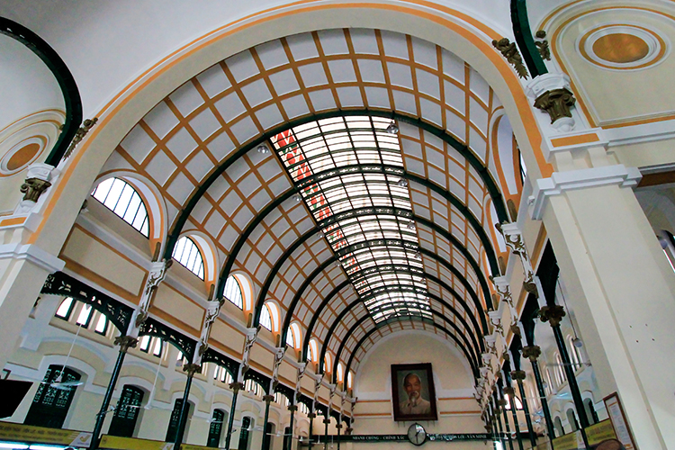 Inside Post Office - Saigon Ho Chi Minh City Vietnam - Wanderlusters