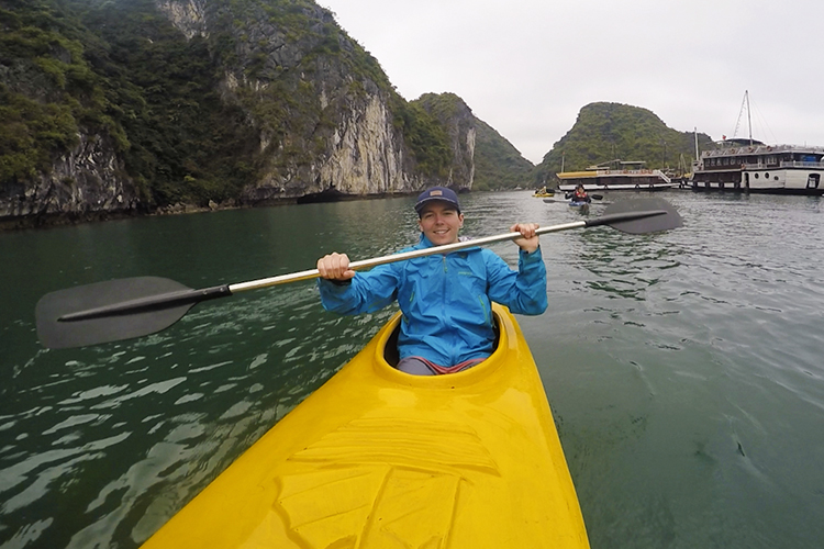 Kayaking in Halong Bay - Vietnam - Wanderlusters
