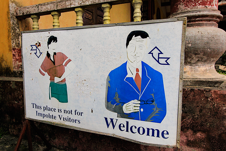Ninh Binh Visitor Sign - Vietnam - Wanderlusters
