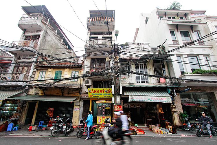 Powerlines Hanoi Vietnam - Wanderlusters