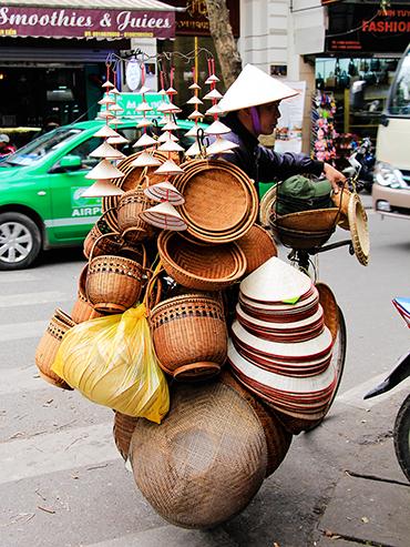 Rice Hats Hanoi Vietnam - Wanderlusters
