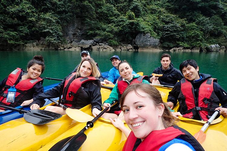 Sandra Group Kayaking - Halong Bay Vietnam - Wanderlusters