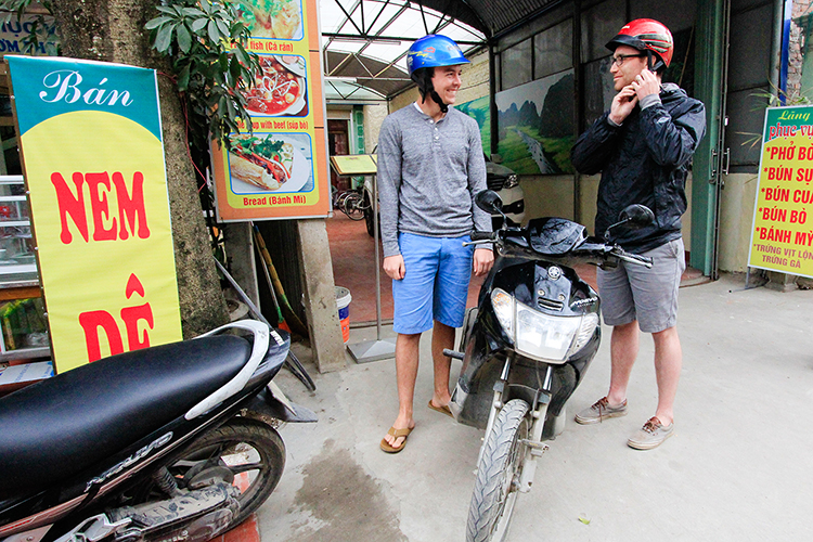 Scooters - Ninh Binh Vietnam - Wanderlusters