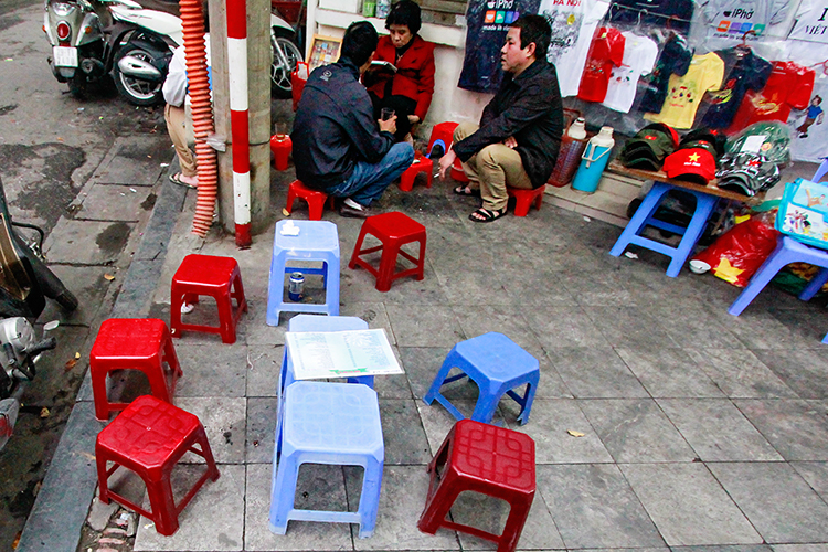 Tiny Stools - Hanoi Vietnam - Wanderlusters