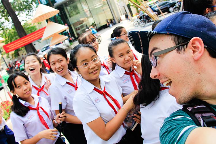 Vietnamese School Kids in Saigon - Vietnam - Wanderlusters