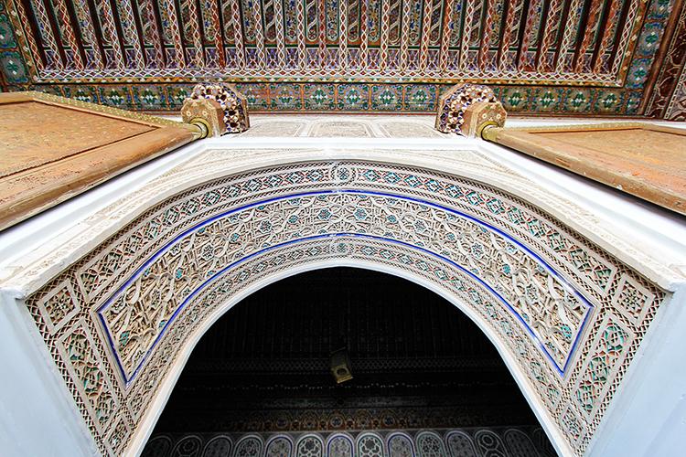 Arch at Palais Bahia - Marrakesh Morocco - Wanderlusters