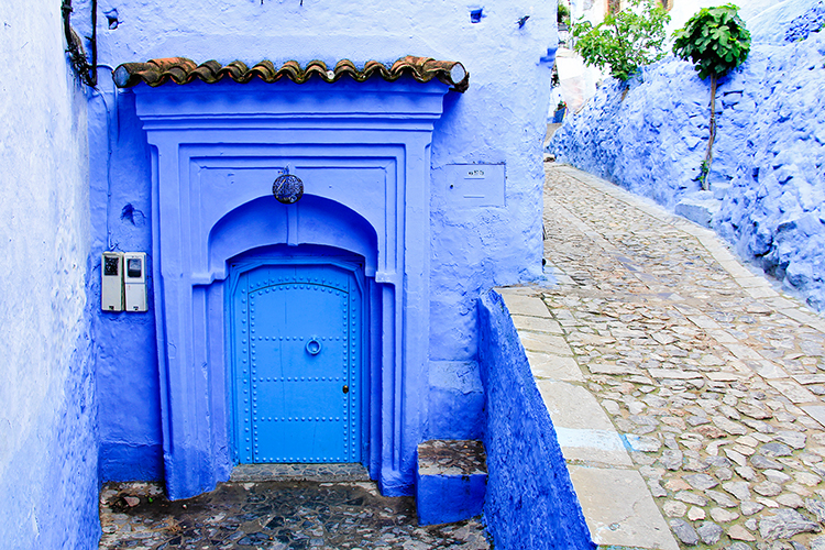 Blue Doors Chefchaouen Morocco 2 - Wanderlusters
